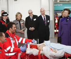 Princess Royal meets Air Ambulance Team