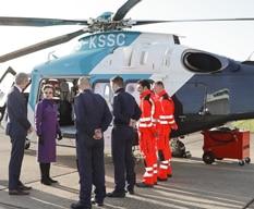 Princess Royal views Air Ambulance