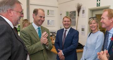 HRH The Earl of Wessex meets members of Vineyards of the Surrey Hills