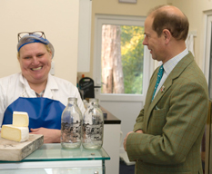 HRH The Earl of Wessex at Norbury Park Cheese