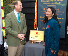 HRH The Earl of Wessex meets Mandira's Kitchen founder