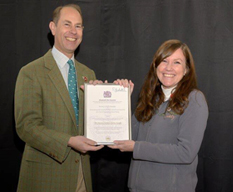 HRH The Earl of Wessex presents award