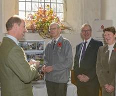 HRH The Earl of Wessex meets members of the Surrey Hills Enterprises