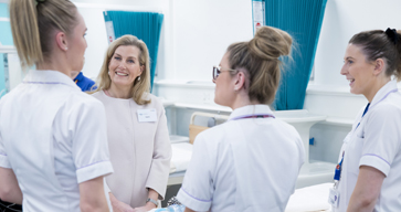 The Countess of Wessex meets NHS nurses