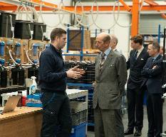 HRH The Duke of Kent meets Harvey Water Softeners staff