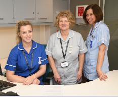 NHS nurses at Royal Surrey County Hospital