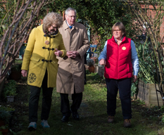 HRH The Duke of Gloucester given a tour of The Patchworking Garden