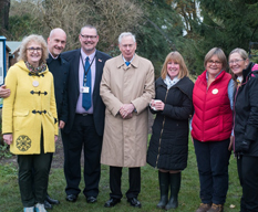 HRH The Duke of Gloucester with members of The Patchworking Garden