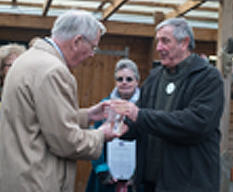 HRH The Duke of Gloucester presents Queen's Award to The Patchworking Garden