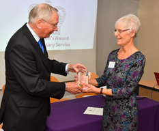 HRH The Duke of Gloucester presenting Queen's Award for Voluntary Service