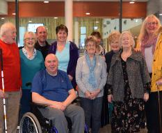Members of the local disability swimming group, Egham