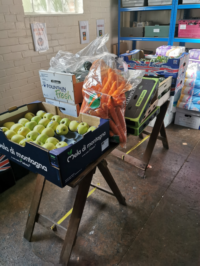 Fresh fruit & vegetables purchased using the grant from the Community Foundation for Surrey